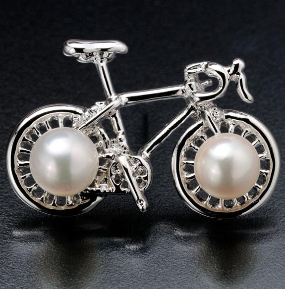 真珠会館【GIANT自転車タックブローチ】+
