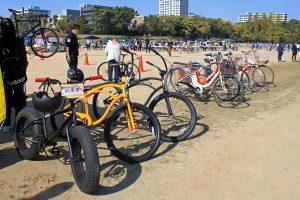 ファットバイクなど普段あまり乗ることのできない自転車も登場