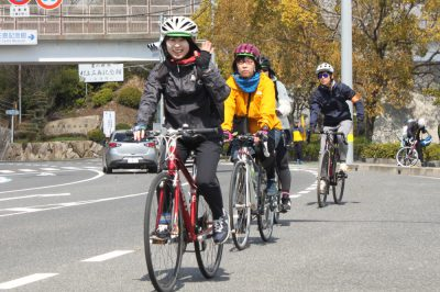 参加女子サイクリストの皆さん