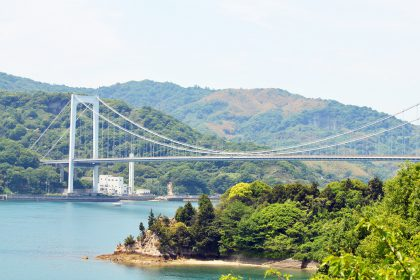 参加者の皆さんが走った大島大橋