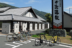 亀ヶ池温泉の自転車