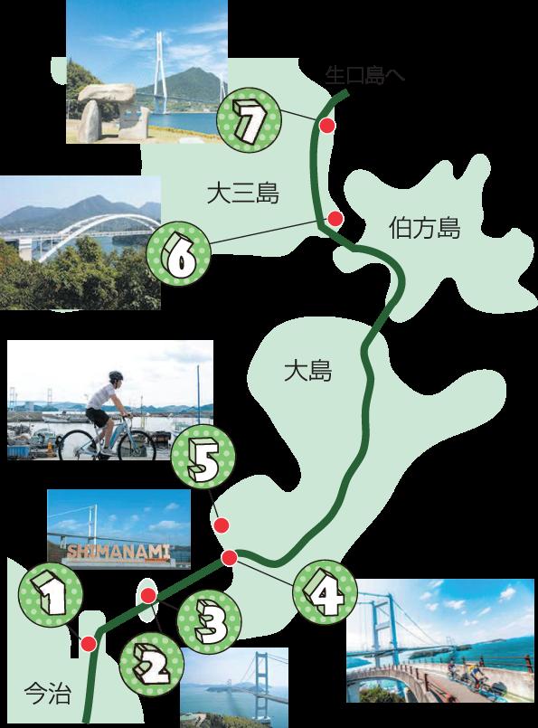 しまなみロードムービーチラシ(map)